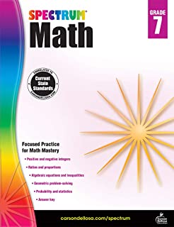 Amazon com: Spectrum Math, Grade 7 (9780769636979): Thomas Richards
