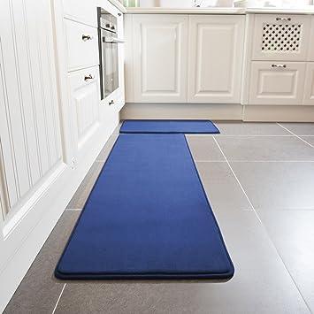 Amazon.com: Kitchen Rug Set, LEEVAN Memory Foam Kitchen Comfort Mat ...