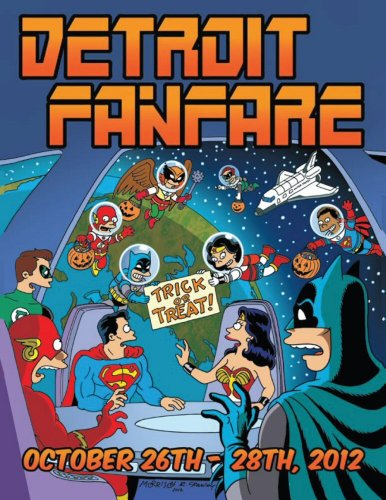 Bill Morrison Detroit Fanfare 2012 Comic Convention Program Justice League Halloween ()