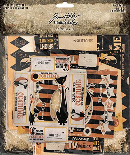 Tim Holtz TH93729 Halloween Vignette Box Tops, None