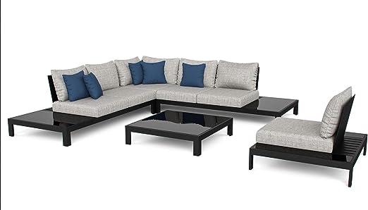 ARTELIA Valentino L Juego de muebles de aluminio para jardín, terraza y jardín de invierno, color antracita: Amazon.es: Jardín