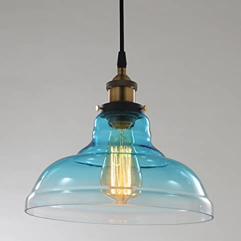 Rh ruivast industrial edison vintage style pendant light soft aqua rh ruivast industrial edison vintage style pendant light soft aqua blue glass lamp shade modern ceiling aloadofball Image collections