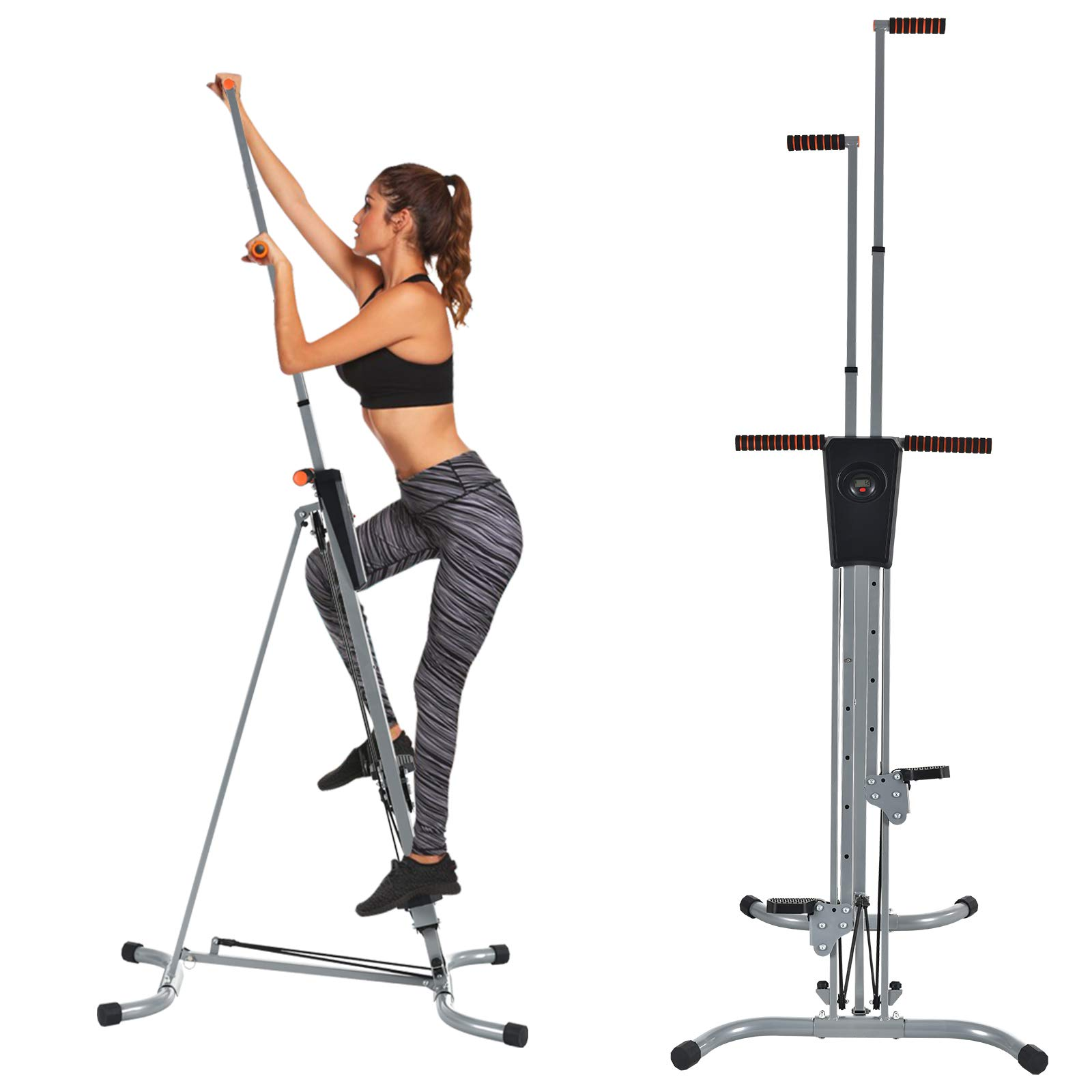 Murtisol Exercise Climber Fitness Vertical Climbing Cardio Machine with LCD Monitor,Natural Climbing Experience for Home Body Trainer
