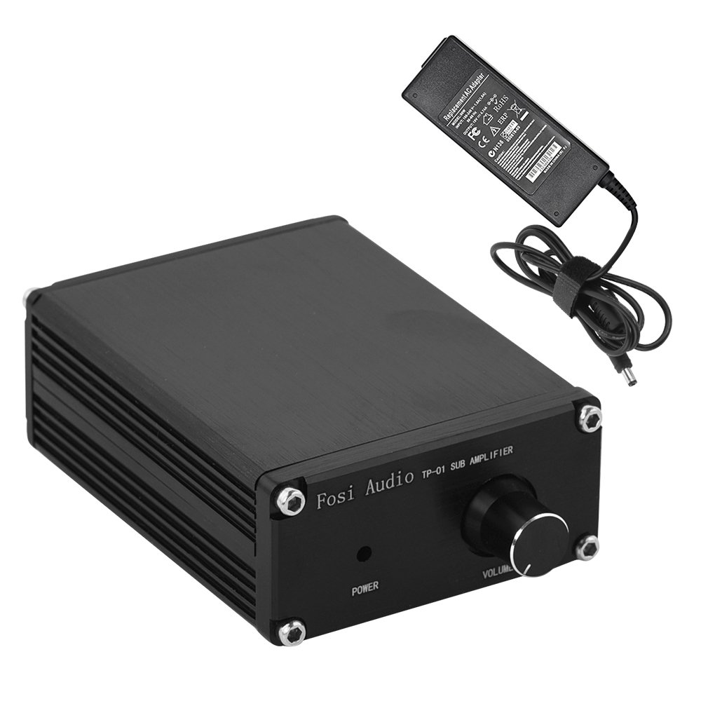 Subwoofer Amplifier Receiver 100Watt Mini Hi-Fi Digital Class D Integrated Stereo Audio Amp for Sub Bass + Power Supply TP-01