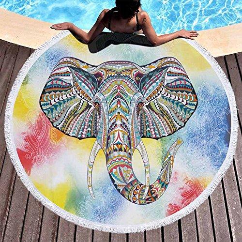 Amazon.com : GSYAZTT N Elephant Round Beach Towels Microfiber Towels Toallas Picnic Blanket Mat 150 Cm Beach Towels For Adults Elephant 2 150X150Cm : Sports ...