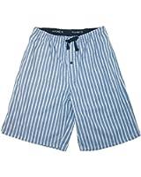 Mens Cotton Madras Drawstring Sleep Pajama Shorts