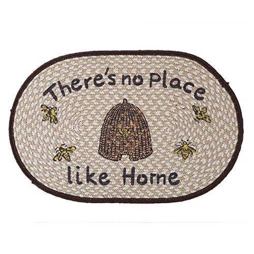 (LOCHAS Braided Area Rug Hand Woven Reversible Oval Solid Jute Carpet for Living Room Bedroom Kitchen Bath Rugs Doormats, 1.6' x 2.5')