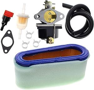 Carbhub 640065A 640065 Carburetor for Tecumseh OHV125 OHV130 OVH135 OHV110 OHV115 OHV120 OV358EA Lawn Mower with 36356 36357 Air Filter Tune Up Kit - 640065A Carburetor