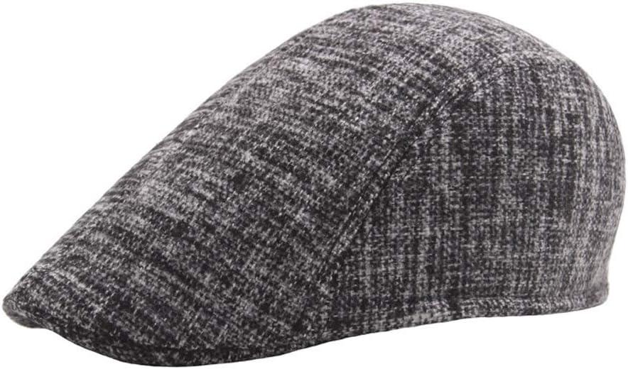Color : Black, Size : 56-58CM MXL Beret Hats for Women Autumn Winter Cotton Ladies Graffiti Mens Outdoor Wool Plus Cotton Warm Art Forward Beret