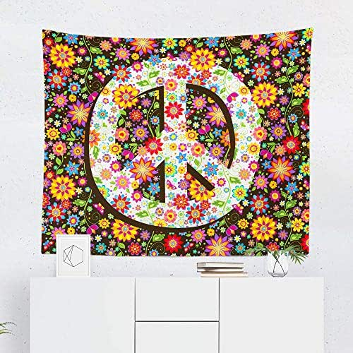 Peace Sign Bedroom Accessories: Amazon.com: Peace Tapestry Wall Hanging Floral Retro Sign