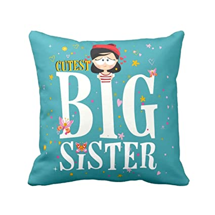 Buy YaYa CafeTM Birthday Gifts For Sister Cutest Big Printed Cushion Cover 16 X Inches Rakhi Online At Low Prices In India