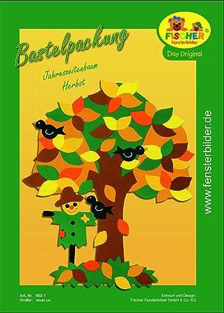 Fischer Fensterbilder Jahreszeitenbaum Herbstbastelpackungca 34x42 Cmzum Selberbastelnbasteln Mit Papier Und Pappe Für Den Herbst