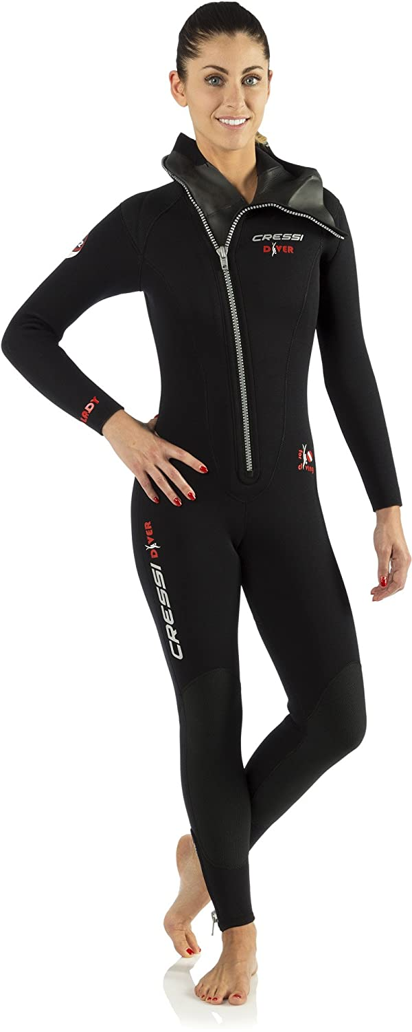 8d0fa59630 Cressi Women s Diver Ultra Durable All-in-One Wetsuit - Premium Neoprene 5mm   Amazon.co.uk  Sports   Outdoors