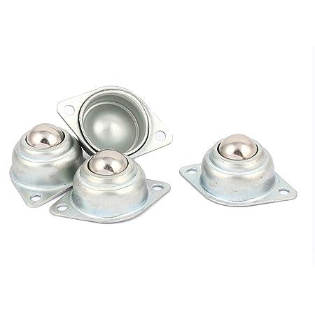 sourcingmap/® Flange Mount 15mm Dia Ball Transfer Bearing Unit Conveyor Roller 4Pcs