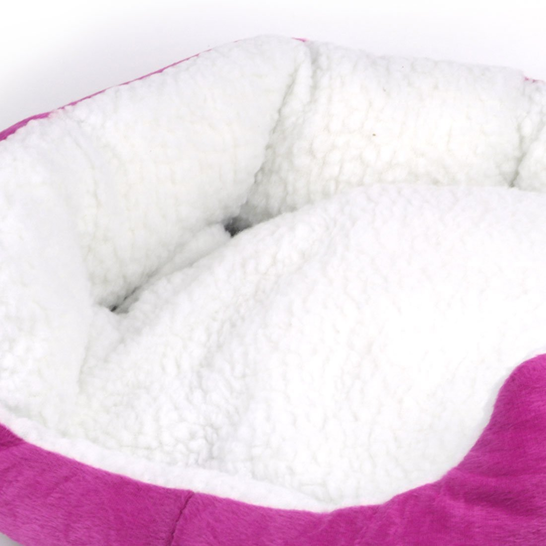 Amazon.com : eDealMax Ronda de paño grueso y Suave de la cueva de anidamiento perro cama del gato cama del Animal doméstico Suave lavable Caliente cesta ...