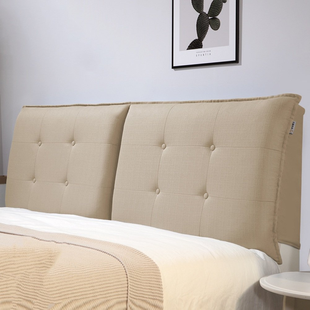 QIANGDA クッション ベッドの背もたれ マットレス ヘッドボード バックレスト 布パッド 取り外し可能な シングル/ダブル ベッドルーム 5ソリッドカラー、 5サイズ 利用可能 ( 色 : リネン色 , サイズ さいず : 90 x 10 x 50cm ) B07B2JMCGV 90 x 10 x 50cm リネン色 リネン色 90 x 10 x 50cm