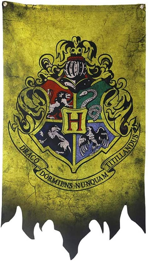 Tiyila Harry Potter Hogwarts House Banners Wall Flags Ultra Premium Complete Double Layered Indoor Outdoor Party Flag H01