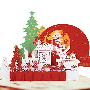 Gaddrt 3d Pop Up Biglietti Di Auguri Di Buon Natale Vacanze