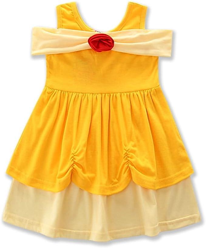 Baby Girls Fairy Princess Dress Snow White Mermaid Minnie Mouse Cosplay Costume
