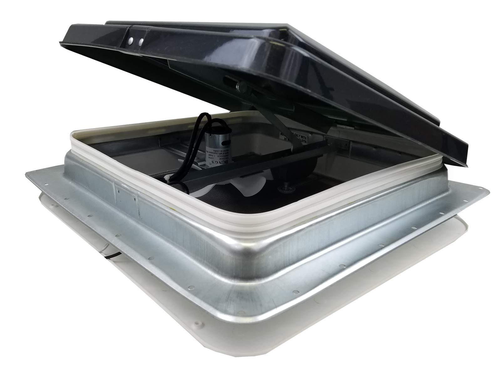 HENG'S 14'' RV CAMPER TRAILER UNIVERSAL SMOKE LID ROOF VENT WITH 12 VOLT FAN 74112- C