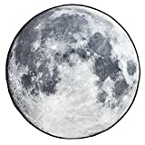 KEPSWET Creative Moon Pattern Design Rugs Round Bedroom Living Room Carpets Computer Chair Carpets Sofa Coffee Table Carpets Home Essentials Non-Slip Carpets (3'0x3'0, round) Review