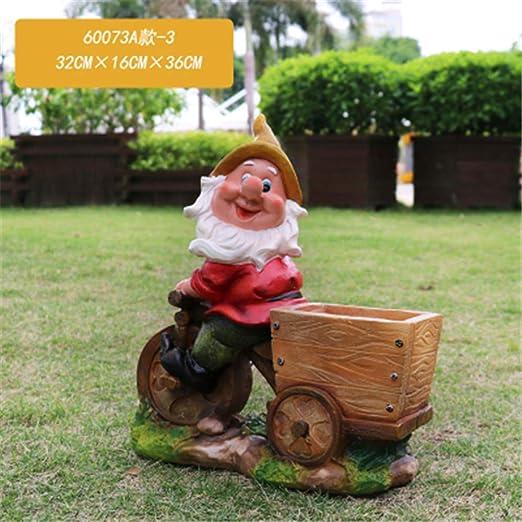 Personalidad Exterior enana Resina Maceta decoración hogar jardín jardín carnoso Lindo en Maceta pequeña Escultura Decorativa: Amazon.es: Hogar