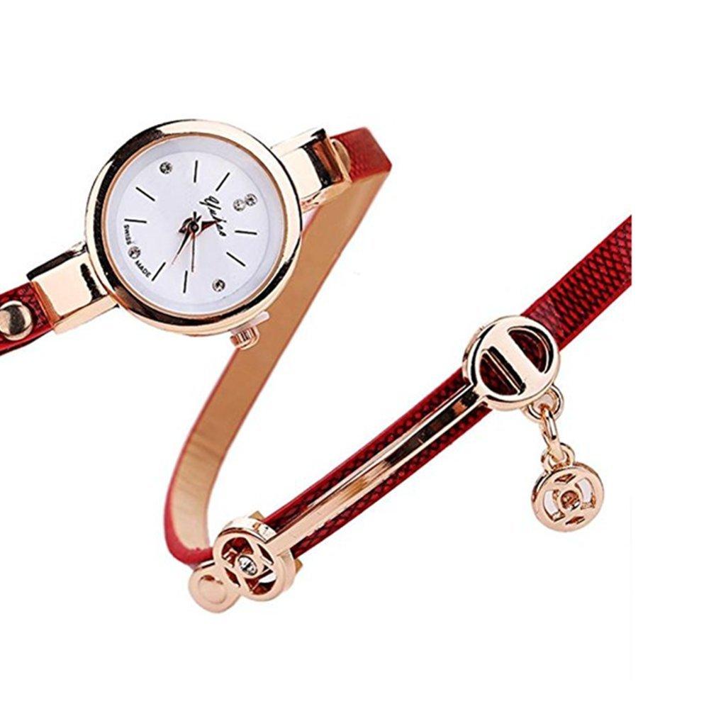 Clearance!Toosvan Women Watch on Sale Leather Metal Strap Analog Quartz Wrist Watch Gift by Waroomvan Watch (Image #2)