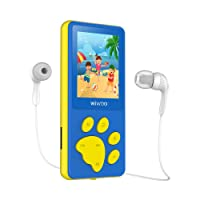 """Portable MP3 Player With Radio, Kids Games, A-B Repeat, Sleep Timer, Voice Recorder, 1.8"""" LCD Screen MP3 Music Player, Cartoon Bear's Paw Button MP4 player for Kids as a Festival Gift (Blue)"""
