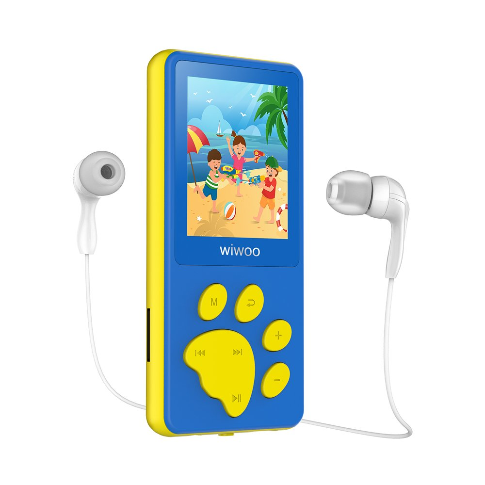 Wiwoo B4 8GB Kids MP3 Players With Game For Child Children ,Portable Cute Cartoon MP4 Player With Video / Voice Recorder / Ebook Reader, Support Up to 64GB Micro SD Card Extension (Blue)