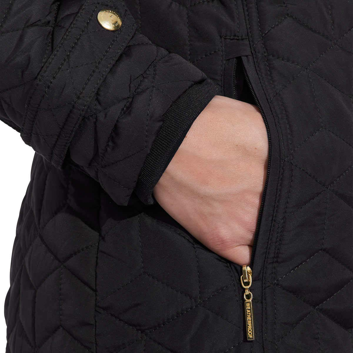 Womens Hooded Midweight Quilted Walker Jacket Weatherproof Garment Co