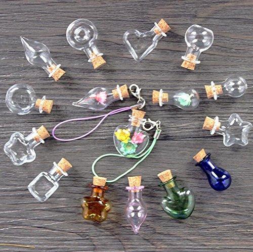 Qsoleil 10 Pack de pequeñas Cristal Artesanía DIY Botellas ...