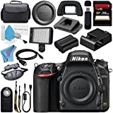 Nikon D750 DSLR Camera 1543 + Carrying Case + 256GB SDXC Card + Card Reader + Professional 160 LED Video Light Studio Series + Mini HDMI Cable + Wireless Universal Shutter Release Remote Bundle