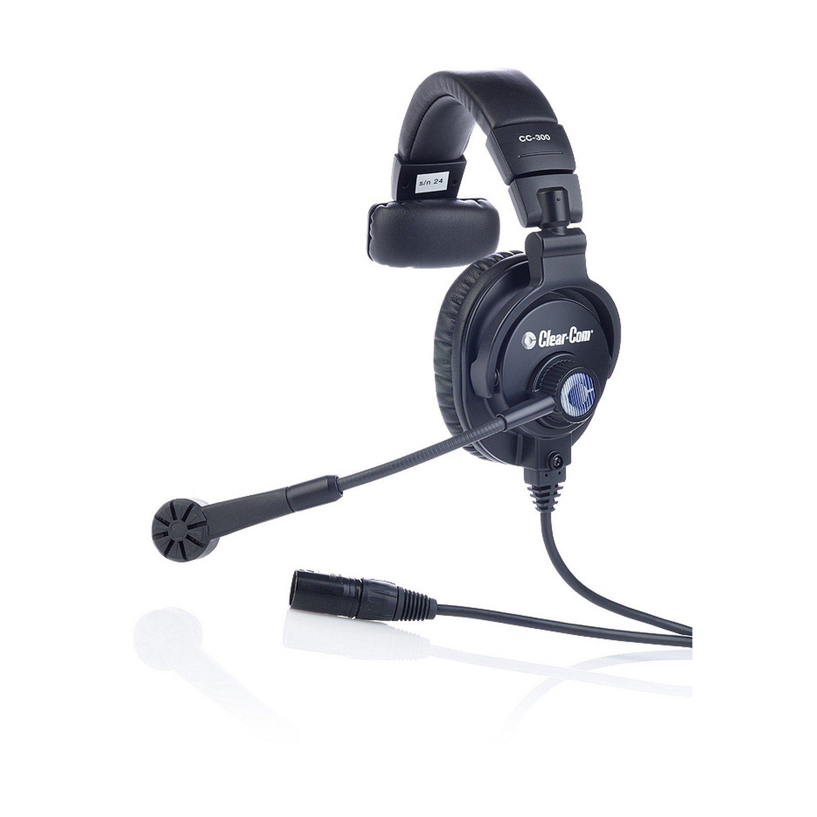 Clear-Com CC-300-X4 | Single Over Ear 4 Pin Female XLR Cardioid Headset