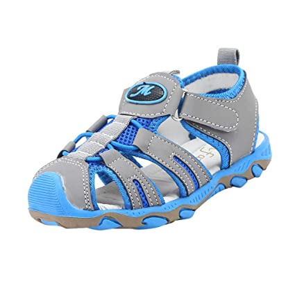 b6c73c34a5abf ❤ Sunbona Toddler Baby Boys Girls Beach Sandals Children Kids Shoes Closed  Toe Summer Beach Sandals Shoes Sneakers Flat Sneaker - - Amazon.com