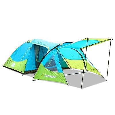 3 à 4 personnes Compte tunnel anti-tempête Tente de camping d'une chambre à coucher extérieure Tissu solaire