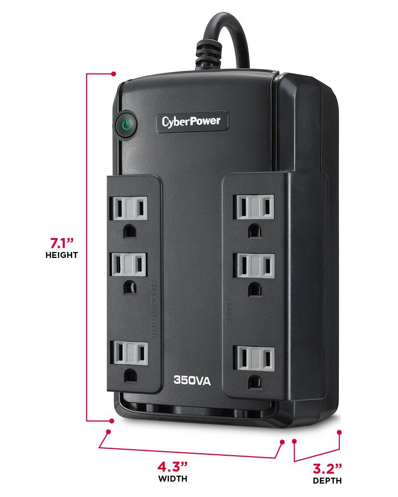 Cyberpower Cp350slg Standby Ups System 350va 255w 6 Taa Furla Metropolis Comic Outlets Compact Home Audio Theater