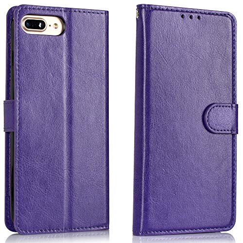 Alkax for iPhone 8 Case Wallet,iPhone 7 Case,Luxury PU Leather with Credit Card Slot Holder Kickstand Flip Folio Protective Skin Cover Magnetic Shockproof for Apple iPhone 7 /iPhone 8 & -