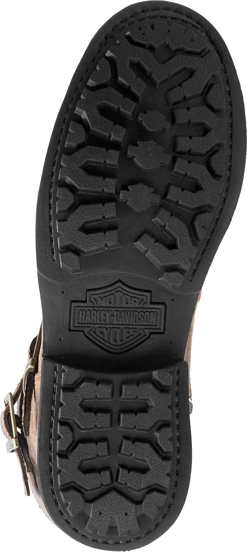 Harley-Davidson Mens Dellridge 10.75-Inch Grey or Brown Motorcycle Boots D93598