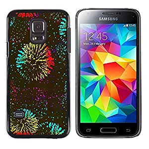 Paccase / SLIM PC / Aliminium Casa Carcasa Funda Case Cover - Years Fireworks Kate Celebration - Samsung Galaxy S5 Mini, SM-G800, NOT S5 REGULAR!