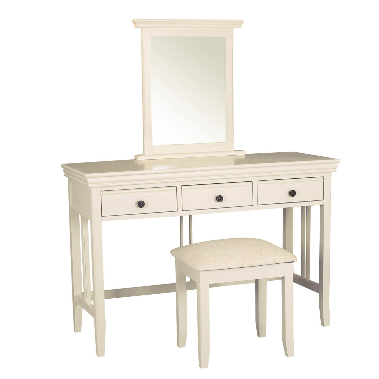 Savannah Dressing Table with 3 Drawers in Ivory/Cream - Dressing ...