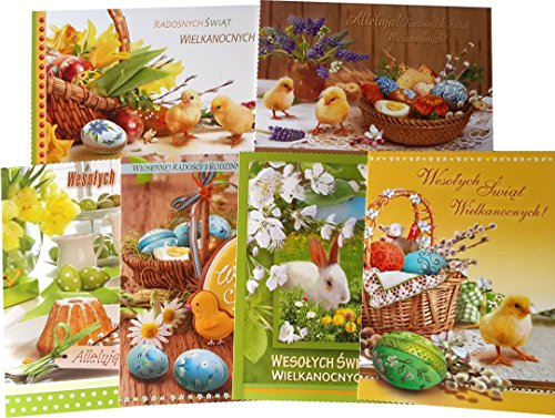 traditional-polish-easter-greeting-cards-with-glitter-set-of-6