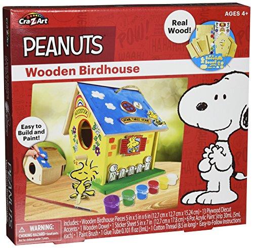 Cra Z Art 38111 Peanuts Wooden Birdhouse
