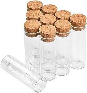22x70mm 18ml Empty Glass Transparent Clear Bottles with Cork Stopper Glass Food Grade Jars Storage DIY Bottles Test Tube Jars 50pcs
