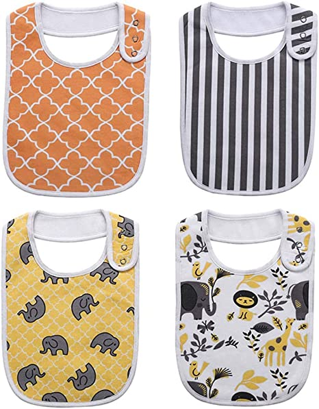 Second Sunny Baberos para bebés pequeños, Unisex 4-Pack Baberos ...