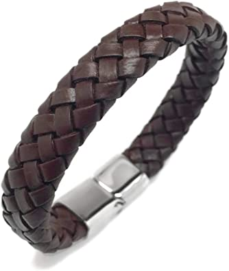 Saint Joan of Arc Unisex Brown Braided Leather Bracelet  7.5 inches long with 2 inch extension will make it suitable for anyone to wear