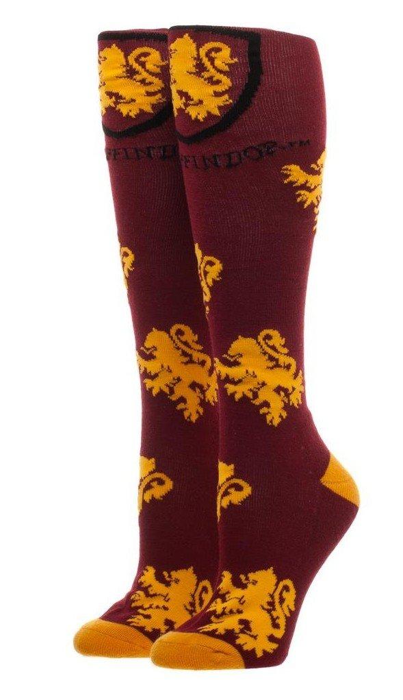 Harry Potter Gryffindor Logo Maroon Knee High Socks