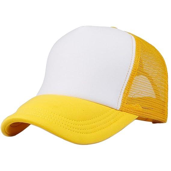 WDILO Sombrero de casquette de media malla transpirable para verano, con circunferencia de la cabeza, ajustable, pico de béisbol,…