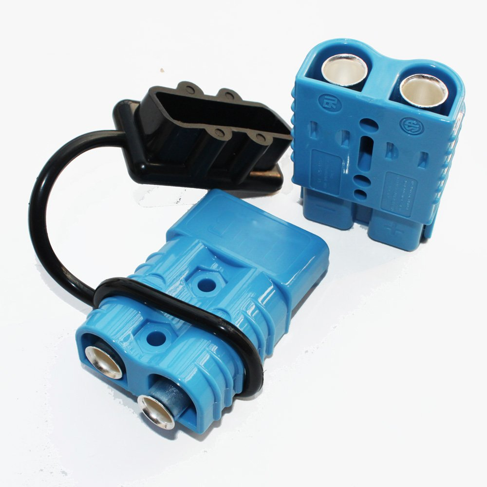 X-Haibei Battery Quick Connector Kit Blue 175A Connect Disconnect Black Cover Winch Trailer Plug 2AWG by X-Haibei