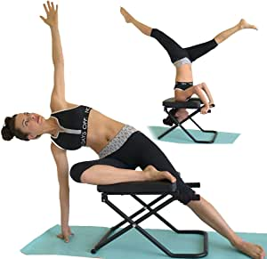 SISYAMA Inversion Bench Yoga Headstand Chair Longer+Wider+Bigger Feet Up Trainer
