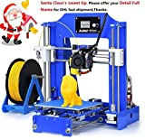 3D Printer - ALUNAR 3D Printer Prusa I3 Kit Self Assembly Mini DIY Desktop FDM 3D Halloween Christmas Holiday Birthday Gift Kids Toy Maker Similar to Anet A8